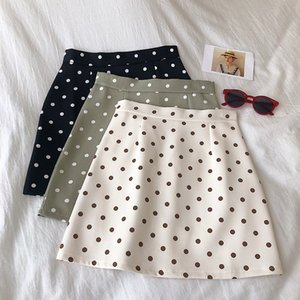 HELIAR Skirts Spring BODYCON Women Polka Dot Mini Casual Skinny Skirts 2020 Spring Sexy Bodycon Women Preppy For
