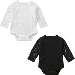 Newborn Kids Baby Girl Lace Hollow Bodysuits Clothes Long Sleeve Solid Autumn Bodysuit Jumpsuit Outfits