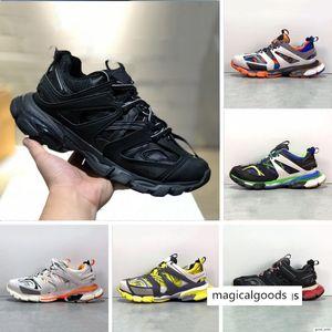 Top quality Paris Triple S Track 3.0 Orange Yellow Men women Running Shoes Platform sports Sneakers Tess S. Gomma Trek Mens Trainers