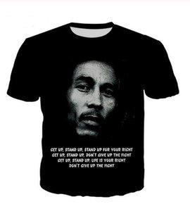 Reggae Mens Womans Casual Stampa stampa O-Neck 3D HD T-shirt Unisex Summer a maniche corte Tees Bob Fashion Shirt WR003 Brand Style Marley T-shir whro