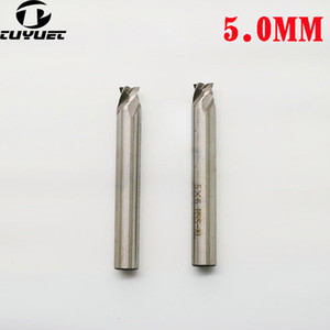 HSS carbure Mill End 5.0MM * 6MM 4F Forets guidage vertical Broche Fraise