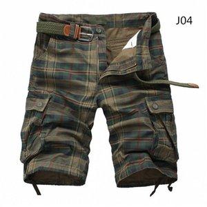 Men 2020 Fashion Plaid Beach Mens Casual Camo Camouflage Shorts Military Short Pants Male Bermuda Cargo Overalls Y200511
