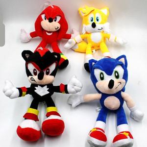 """2019 nueva llegada de Sonic el erizo Sonic Chaos Knuckles Echidna los animales de peluche juguetes de peluche con la etiqueta 9"""" 23cm libre de Shippng"""