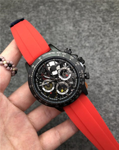 Китай Роскошные Мужчины Часы высокого качества VK Quartz Master Часы для мужчин Srubber Пояс Бизнес хронографирование Часы Все функциональные работы