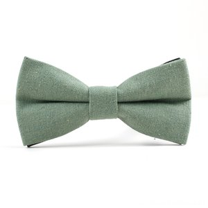 Green Good Quality Mens Bow Tie Linen Prom Party Adjustable Business Gravata Necktie Gifts Neck Tie Set Ties for Men Female Butterfly K