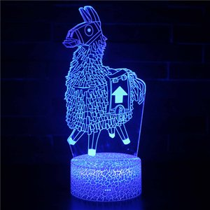 16 Changement de couleur par télécommande Sheep Conception mignonne LED 3D Night Light Fort Nite Veilleuse