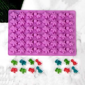 48 Boşluk Sevimli Dinozor Silikon Sakızlı Kek Kalıpları Çikolata Kalıp Ice Cube Tepsi Şeker Foudant Kek Pişirme Dekorasyon Araçlar Kalıp
