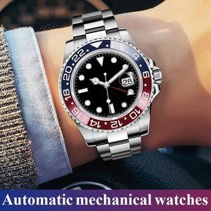 Relojes de pulsera impermeable de visita de moda de acero inoxidable de los hombres del reloj del regalo 2019 Calendario Mens relojes baratos mecánico automático