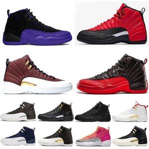 2020 nouvelles 12 12s hiberné WNTR Royal Game FIBA chaussures pour hommes de basket-ball Hivérisez grippe Université jeu hommes d'or entraîneur espadrilles 7-13