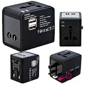 Preto Universal Soquete de Conversão de Energia Multi Função Conveniente Durável Anti Desgaste Dual USB Soquetes Flexível Direto Da Fábrica 17 8cyI1