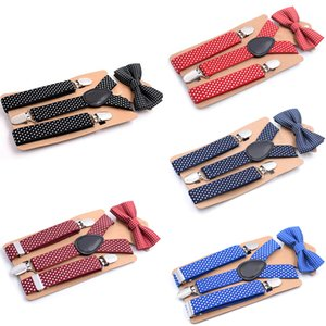 Suspender Clip Toddler Causal Cute Kids Set Fashion Dot Children Party Baby Girl Bow Tie Boy Body Suit