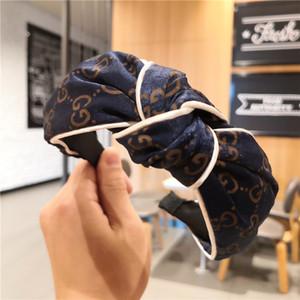 2020 Designer Stirnband für Frauen und Mädchen 4 Farben Marke Luxus-Haarreif mit Schleife Druck Stirnband Großhandel