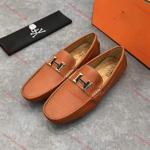 Hermes slippers xshfbcl HOT! Nova baratos sapatos homens vestir sapatos de couro mens materiais progettista para homens com moda couro genuíno sapatos de luxo casuais