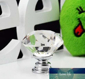 Diamond Shape six colors Crystal Glass Cabinet Handle Cupboard Drawer Knob Pull
