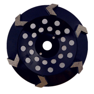 1 Piece 7 Inch D180mm Diamond Grinding Cup Wheel for Angle Grinder Diamond Grinding Disc with Six Segments for Concrete and Terrazzo Floor