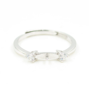 al por mayor S925 montajes de plata anillo de diseño precioso para el envío libre de la apertura ajustable de la joyería de perlas mujeres bricolaje