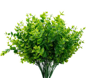 Artificial Boxwood Stems Greenery Stems Artificial Plants Outdoor Resistant Fake Plants for Farmhouse Home Garden Wedding Pati DHB306