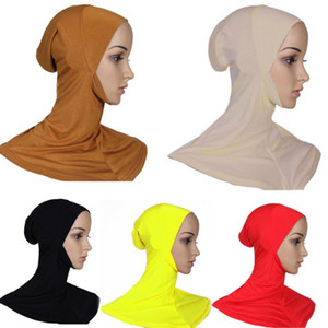 Multicolor-weiche Baumwoll muslimischen Kopftuch Instant-Jersey Hijab Full Cover Cap Muslim Islamic Wrap Kopftuch Neck Full Cover Schal