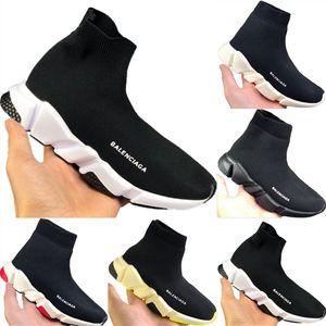 2020 Дети Скорость Stretch Вязать High Top дышащий спортивный носок Сапоги Оригиналы Kids Speed Buffer Rubber Тренер тапки