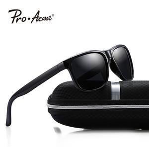Pro Acme Unisex Retro polarisierte Sonnenbrille Männer Trave Fahren Sonnenbrillen Spiegel-Objektiv-Quadrat-Rahmen Vintage-Brillen UV400 P1010