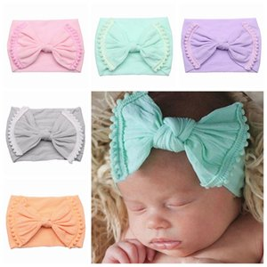 Baby Bow Hairband Toddler Elastic Tassel Turban Baby Girl Big Bow Headband Solid Headwear Accessories HHA1180