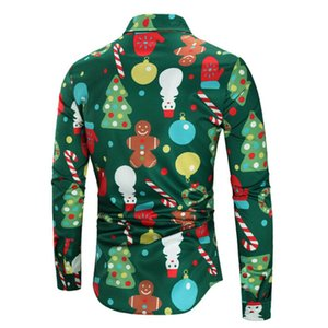 Natal Santa do MEN camisa havaiana TOP BLUSA TEE presentes do Xmas HOLIDAY PARTY M-3XL