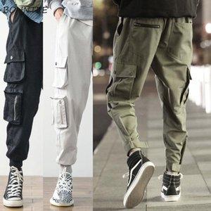 Hommes Pantalons Pantalon cargo avec poches de cheville réglable longueur pantalon cool Handsome été surdimensionné coréenne style Chic