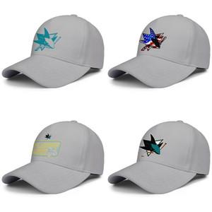 Mujeres San Jose Sharks Teal Logo primaria de los hombres de béisbol casquillos ajustables clásico sombrero del golf del hockey sobre hielo azul de la bandera EE.UU. Árbol 2019 de la Copa Stanley