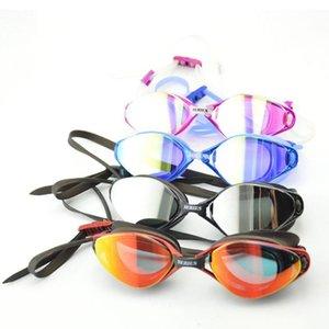 Mounchain Unisex Professionelle Anti-Fog UV-Schutz Einstellbare Schwimmbrille wasserdichte Silikon-Brille
