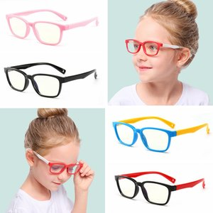 Baby Anti-blue Light Silicone Glasses Fashion Children Frame Goggle Glasses Classic Kids Flexible Frame Eyewear LJJT1011