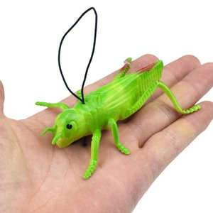 TPR Soft Silcone Model Grasshopper Insect Toy Model Prank Scary Spoof Trick Toy Cross Border Supply of Goods