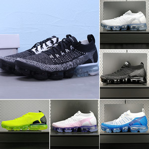 Knitting new air 2.0 fly 3.0 knitting running shoes cultivating yuanblue fury south beach all black three white men's famous brand sports sh