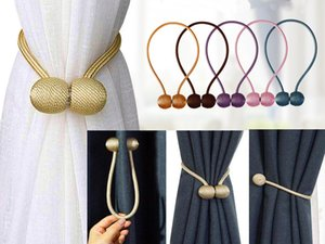 Magnetic Curtain Tieback High Quality Holder Hook Buckle Clip Curtain Tieback Polyester Decorative Home Accessorie