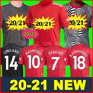 2020 2021 FC Manchester United RASHFORD B. FERNANDES POGBA Fußballtrikots LINGARD LUKAKU MARTIAL Fußball trikot United MAN UTD 20 21 Uniformen Mann + Kinder Kit Trikots