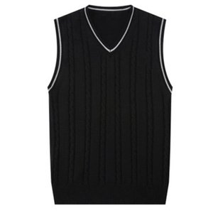Sweater Men Fashion Sleeveless Knitted Vest Male V-Neck Pullover Male Jacket Slim Solid Casual Mens Woolen Sweaters Vest J723