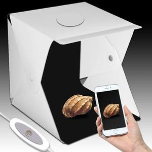 Studio Tabletop Schießen Led 40x40x40cm Fotostudio Photobox Hintergrun Eingebauter Foto-Box Kleine Gegenstände Fotografie Led Ligh ...