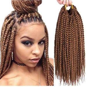 1Packs 14&#039&#03918&quot22&quot Box Braids Crochet Hair Synthetic Hair Extensions Twist Crochet Braids Hairstyles Kanekalon Braiding Long