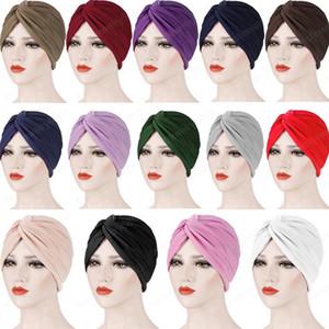 Indien musulman Femmes Turban Hat Underscarf Volants Chemo Cancer Caps Bonnet Couvre-chef Head Wrap Scarf perte de cheveux couverture Bandana Nouveau