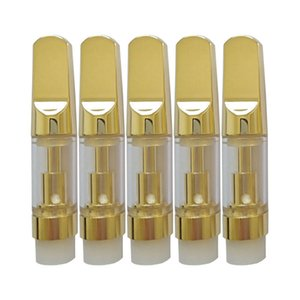 Yeni Kartuşları Altın CE3 Kartuşları Cam Tankı Kalın Yağ Vaporizer Seramik Bobin Seramik Driptip 0.5ml /1.0ML Ağızlık Pyrex Kartuş DHL