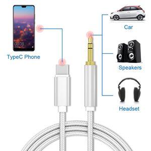 Adaptateur Jack Cable numérique Type C Pour Casque audio AUX Câble ligne Haut-parleur USB Splitter de C Adaptateur pour téléphone Haut-parleur