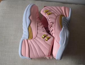 2019 nouvelles femmes rétro GS rose limonade chaussures de basket filles 12s 12 baskets rose limonade taille 36-47