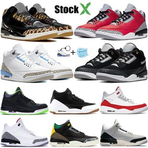 Air Jordan 3 Wolf Grey Scarpe da basket Uomo Fire Red Black Cat White Cement Infrared Sport True blu Sneakers da uomo Scarpe da ginnastica US7-13