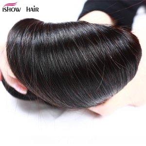 Ishow Hair Big Spring Sales Promotion Buy 3 Bundles Brailizan Peruvian Malaysian Straight Hair Get 1 Free Lace Closure Natural Color