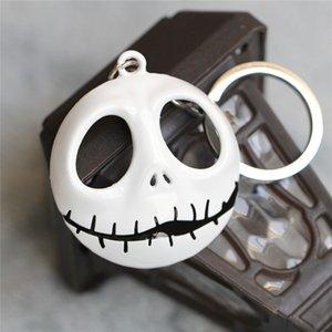 سلسلة في قبل شماعات عيد الميلاد، The Skellington Glowed Figure Keychain Head القناع Jack Nightmare حلقة الظلام لعبة مفتاح مفتاح KHXQM