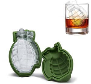 Grenade 3D Shape Ice Cube Creative Mold Ice Cream Maker Party boissons silicone Plateaux Moisissures cuisine Barre d'outils Hommes cadeau
