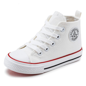 Tuval Çocuk Ayakkabı 2017 İlkbahar Sonbahar Yüksek Üst Nefes Çocuk Sneakers Moda Erkek Kız Rahat Ayakkabılar Shoes Enfant Y190525