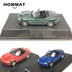 HOMMAT 01:43 Mazda MX-5 Convertible Sports Modelo Car Alloy Diecast Toy Car Veículos Modelo Collectable Coleção Black Friday presente CJ191212