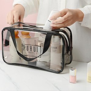 Cosmetic bag female portable large capacity toiletry pocket PVC travel portable cosmetics lipstick storage bag vehicle creative sundries bo