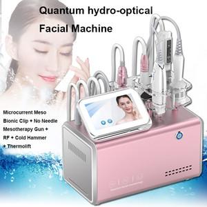 5 Dans 1 multifonction Quantum Hydro-optique Beauté du visage Appareil Lifting Rides Diminution améliorer Salon Skin Tone Beauty Machine SPA