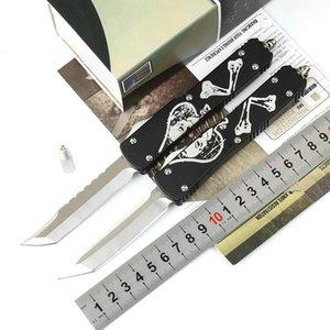 UT череп рукоятка изверг танто D2 лезвие двойного действия тактической самообороны складной нож EDC Походный нож охотничьи ножи подарок Xmas Adker